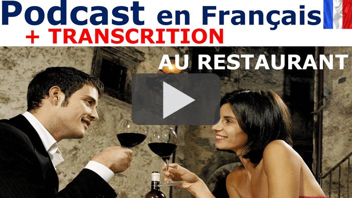 podcast en français. au restaurant