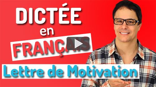 dictée lettre de motivation
