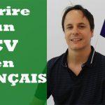 CV français – Exemple