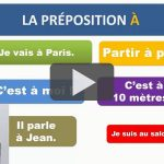Les prépositions en français : la préposition À