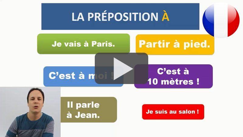 les prépositions en français