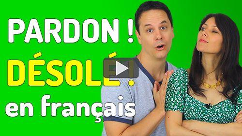 s'excuser en français