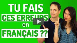Erreurs fréquentes en français