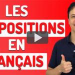 Prépositions en français