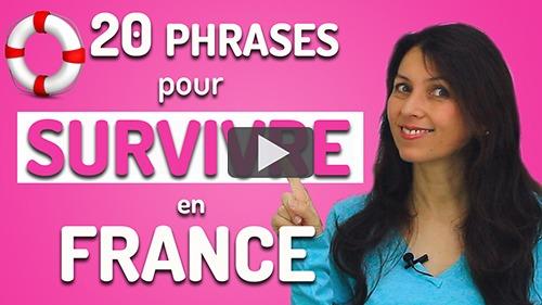 phrases pour voyager en France