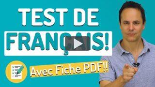 Test de français - Français avec Pierre